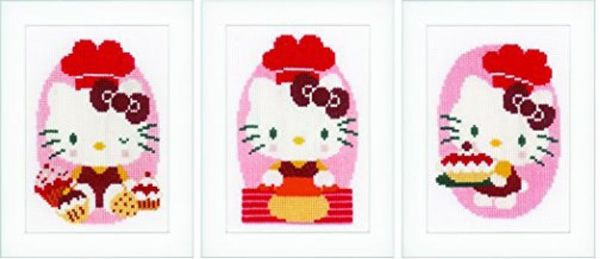 Hello Kitty In The Bakery Cross Stitch Kit